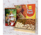 Giftacrossindia Assorted Dryfruit With Soan Papdi Hamper