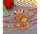 Giftacrossindia Five Artistic Rakhi Combo