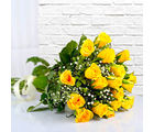 Giftacrossindia Eighteen Yellow Roses Bouquet (GAIMPHD0008)