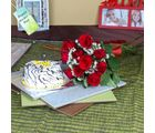 Giftacrossindia Ten Red Roses Bouquet With Vanilla Cake For Mom