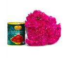 Giftacrossindia Mouthmelting 1 Kg Gulab Jamuns with 15 Pink Carnations Flowers (GAIMPHD0456)