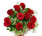 Giftacrossindia Ten Red Roses Hand Tied (GAIMPHD0539)