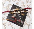 Giftacrossindia Fashionable Beads Rakhi Set