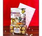 Giftacrossindia Sorry Greeting Card And Ferrero Rocher Chocolate (GAICOU0448V)