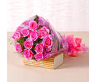 Giftacrossindia Bunch of Twelve Pink Roses (GAIMPHD0004)