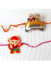 Giftacrossindia Pack Of Tow Kid Rakhis