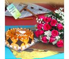 Giftacrossindia Lovely Gift Of Roses And Cake On Mothers Day