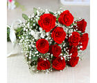 Giftacrossindia Hand Tied Bunch of Dozen Red Roses (GAIMPHD0039)
