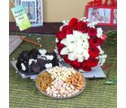 Giftacrossindia Exclusive Roses Bouquet With Cake And Dryfruits