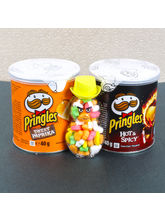 Giftacrossindia Pringles Chips And Colorful Candie...