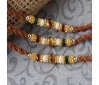 Giftacrossindia Beautiful Triple Beads Rakhi