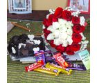 Giftacrossindia Roses Bouquet With Assorted Chocolate And Chocolate Cake