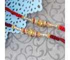 Giftacrossindia Pair Of Two Charming Designer Rakhi