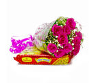 Giftacrossindia Bouquet of Ten Pink Roses with Soan Papdi Sweets (GAIMPHD0417)