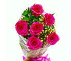 Giftacrossindia Fresh Six Pink Roses Bunch (GAIMPHD0087)