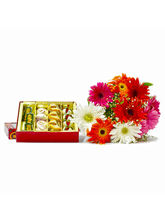Giftacrossindia Bouquet Of Colorful Gerberas With ...