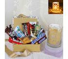 Giftacrossindia Diwali Imported Chocolate With Designer Shadow Diya