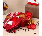 Giftacrossindia Valentines Hamper Of Heart Shape Chocolates And Golden Rose (GAICOUVAL2019119)