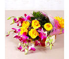 Giftacrossindia Bouquet of Orchids and Roses (GAIMPHD0080)
