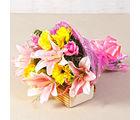 Giftacrossindia Exotic Ten Seasonal Flowers Bunch (GAIMPHD0062)