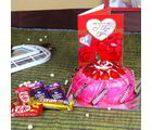 Giftacrossindia Assorted Chocolate With Strawberry Cake And Love Greeting Card (GAIVALHD20190318)