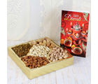 Giftacrossindia Diwali Card With Assorted Dry Fruits