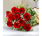 Giftacrossindia Ten Romantic Red Roses Bouquet (GAIMPHD0040)