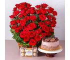Giftacrossindia Romantic Treat of Cake, Roses and Chocolates (GAIMPHD0592)