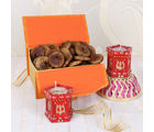 Giftacrossindia Fig Dry Fruits Box With Earthen Diya