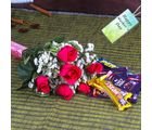 Giftacrossindia Hamper Of Pink Roses And Chocolates For Mothers Day