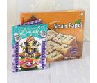 Giftacrossindia Soan Papdi Sweet With Diwali Greeting Card