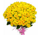 Giftacrossindia 100 Yellow Roses Bouquet (GAIMPHD0574)