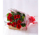 Giftacrossindia Bouquet of Ten Long Stemmed Red Roses (GAIMPHD0023)