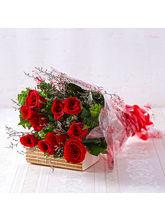 Giftacrossindia Bouquet of Ten Long Stemmed Red Roses (GAIMPHD0023)