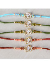 Giftacrossindia Pack Of Five Crystal Beads With Om...