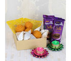 Giftacrossindia Floating Diya With Assorted Sweets And Silk Chocolate
