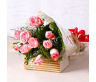 Giftacrossindia Soft Pink Roses Bunch (GAIMPHD0067)
