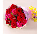 Giftacrossindia Bouquet of Red Roses and Pink Carnations (GAIMPHD0079)