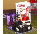 Giftacrossindia Cadbury Dairy Milk Chocolate With Heart Shape Chocolate Cake And Love Greeting Card (GAIVALHD20190328)