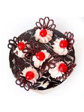 Giftacrossindia Round Black Forest Cake (GAICAK0044)