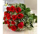 Giftacrossindia Fresh Fifteen Romantic Red Roses Bouquet (GAIMPHD0034)
