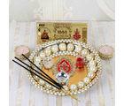Giftacrossindia Pearl Beads Diwali Pooja Thali Combo