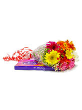 Giftacrossindia Hand Tied Bouquet Of 10 Mix Gerber...