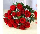 Giftacrossindia Fresh Eighteen Romantic Red Roses Bunch (GAIMPHD0035)