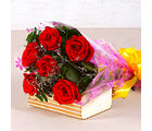 Giftacrossindia Bouquet of Six Red Roses (GAIMPHD0081)