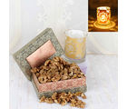 Giftacrossindia Walnut Dry Fruit With Shadow Diya