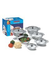 Vinod Royal Veg. Serving Dish With Cover (350 Ml), silver