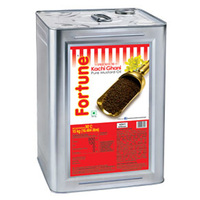 Fortune Kachi Ghani Mustard Oil, tin, 15 kg