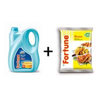 Combo of Plus Cottonlite Oil jar 5 lt+ Besan 1 kg pouch