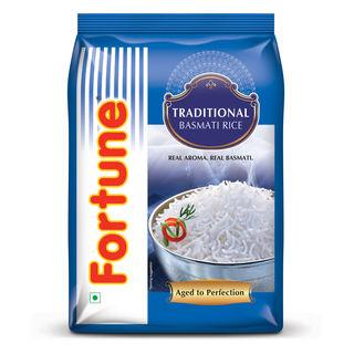 Fortune Traditional Basmati Full Grain Rice, 25 kg